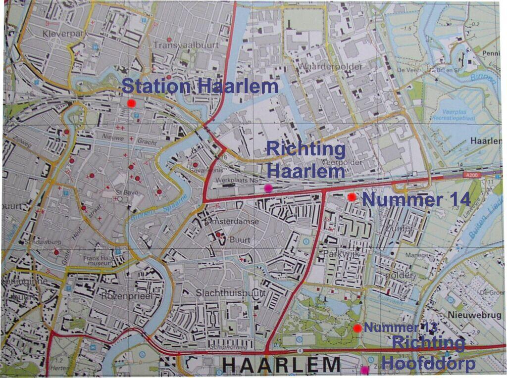 Kaart Haarlem en omgeving Haarlemmermeer haarlemmermeerspoor